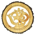 Wooden Om Symbol Wall Hanging