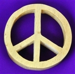 Pinewood Peace Sign Altar Tile