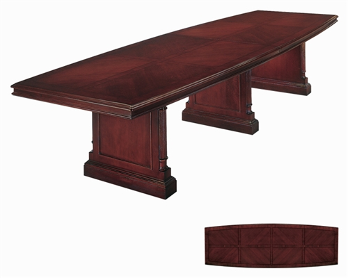Kewsick Boat Top Conference Table With Slab Bases Office - Conference table bases wood