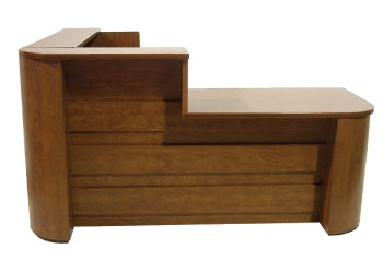 Faustinos Custom made Wood Lobby Reception Desks are Made in the USA