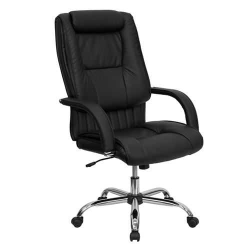 high back black leather executive office chair bt 9130 bk gg by