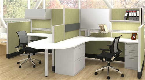 friant cubicles and modular office divider walls at san diego