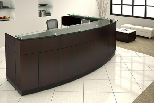 Willow Series Custom Reception Lobby Desks by Friant