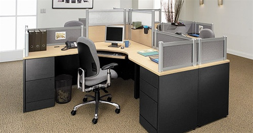Global Divide Glass Or Fabric Desk Partitons And Office