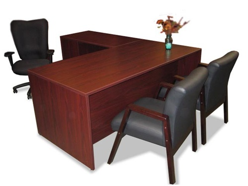 Contemporary Executive Office Desk With Return Gorgeous Stunning