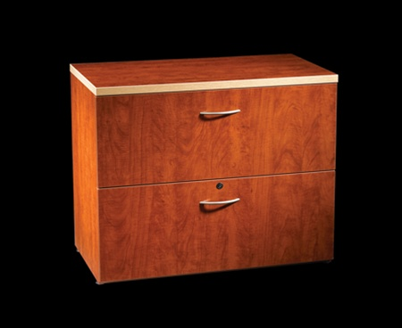 Maverick 2 Drawer Lateral file in Cognac Cherry finish