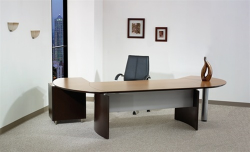 Maverick Napa L shape Executive Desk in Espresso High