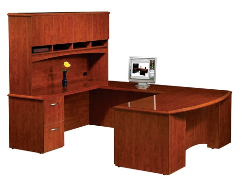 Maverick Desk Pacifica series Executive Desks showroom in
