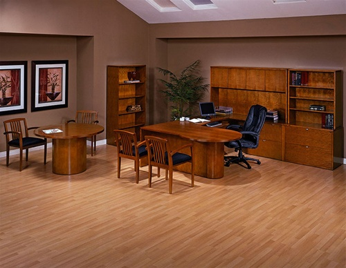 Kenwood Cherry Wood Executive Desk Collection by Office Star from Office  Furniture Outlet.