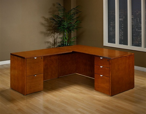 Kenwood Cherry Wood Executive Desk Collection by Office Star from