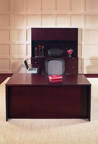kenwood executive office furniture and computer desk in mahogany