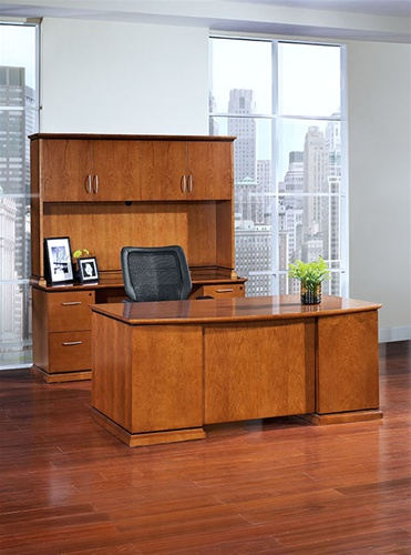 Mendocino Cherry Wood Desk Collection by Office Star