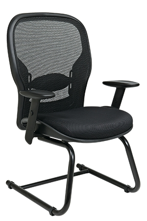 breathable mesh back and mesh seat visitors chair 2305 by office star