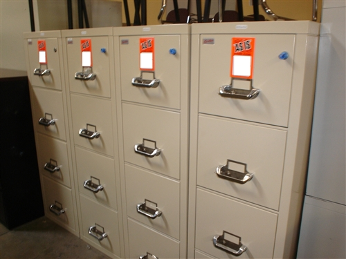 Used Fireproof File Cabinets At Office Furniture Outlet In