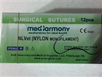 NLVet<SUP>TM</SUP> (Nylon) size 4-0 box of 12 suture packets 22mm reverse cutting needle 90cm, Monofilament Non-Absorbable