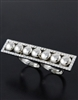 TWO FINGER RECTANGLE RHINESTONE RING
