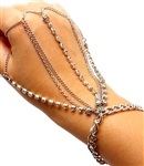 Four Finger Rhinestone Hand Chain