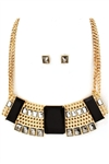 SQUARE METAL BIB NECKLACE