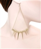 Spike Chanderlier Earrings W/Rhinestone detail