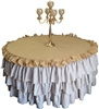 Burlap and Natural Linen Tablecloth