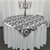 Black and White Taffeta Damask Overlay