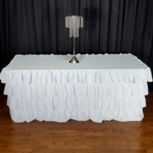 4 Tier Polyester Ruffle Tablecloth