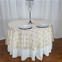 Embroidered Organza Trellis Overlay