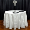 "Italian Crushed Satin Tablecloth 120"" Round"