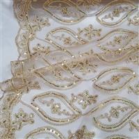 Embroider Lace, Mango Leaf Design, Guipure