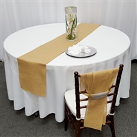 Natural Color Burlap Table Runner