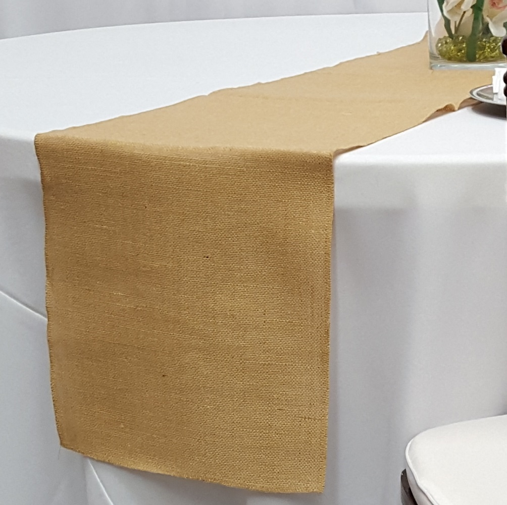12 x 100 burlap table runner for 12 ft table runner