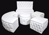 Lounge 5-piece Set Royal Wood with White Vinyl