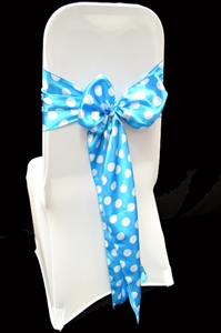 Satin Polka Dot Chair Sashes