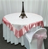 Swirl Sequin Organza Table Overlay