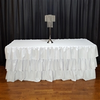 3 Layer Ruffle Tablecloth