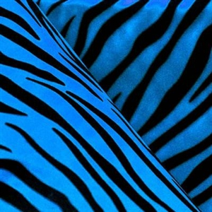 Zebra Flocking Taffeta