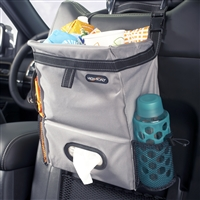 Gray Puff'nStuff Car and Auto Hanging Car Trash and Tissue Seatback Organizer