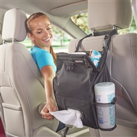 Black Puff'nStuff Car and Auto Hanging Car Trash and Tissue Seatback Organizer