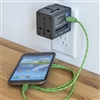 Talus Smooth Trip Travel Adapter Cube with USB Chargers