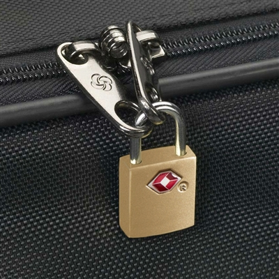 Talus Smooth Trip Luggage Key Lock Set - Brass