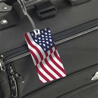 Smooth Trip<br>American Flag Luggage Tag