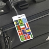 Talus Smooth Trip International Flag Luggage Tag