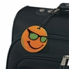 Smooth Trip<br>Smiley Face Luggage Tag - Orange