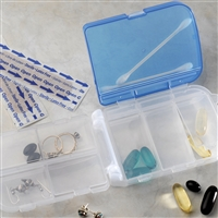 Tri-fold Pill and Storage Travel Case