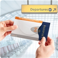 Smooth Trip<br>RFID Blocking<br>White Passport Protector