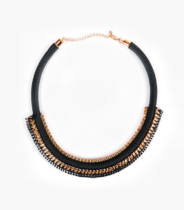 Liah Gold Layered Statement Necklace