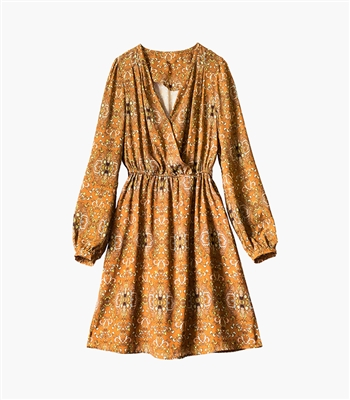 Midsummer Bell Sleeve Paisley Dress