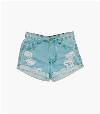 Azure Vintage High-Rise Shorts