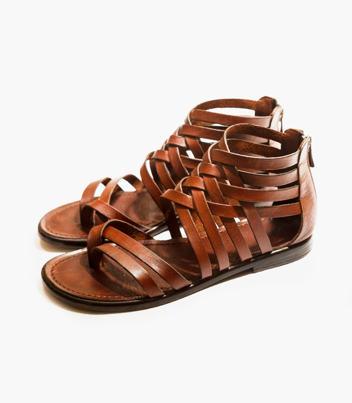 Clementine Leather Weave Sandals