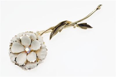 Flower Shell Brooch